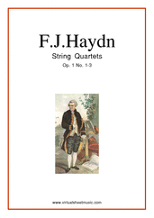 Cover icon of String Quartets Op.1 No.1-6 (parts) sheet music for string quartet by Franz Joseph Haydn, classical score, intermediate skill level