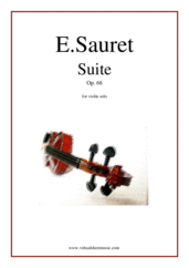 Cover icon of Suite Op.68 sheet music for violin solo by Emile Sauret, classical score, advanced skill level