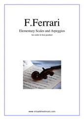 Cover icon of Elementary Scales and Arpeggios sheet music for violin solo by Fabrizio Ferrari, classical score, easy skill level