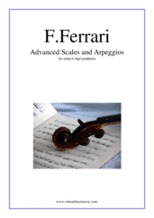 Cover icon of Advanced Scales and Arpeggios sheet music for viola solo by Fabrizio Ferrari, classical score, intermediate/advanced skill level