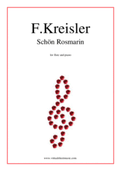 Cover icon of Schon Rosmarin sheet music for flute and piano by Fritz Kreisler, classical score, intermediate skill level