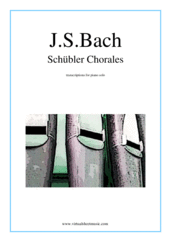 Cover icon of Schubler Chorales sheet music for piano solo by Johann Sebastian Bach, classical score, intermediate skill level