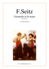 Seitz - Tarantella in D major Op  26 No  2 sheet music for violin and piano