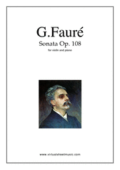 Cover icon of Sonata in E minor sheet music for violin and piano by Gabriel Faure, classical score, advanced skill level