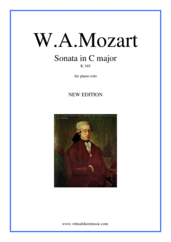 Sonata in C major K545 (NEW EDITION) for piano solo - easy wolfgang amadeus mozart sheet music