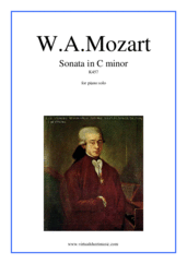 Cover icon of Sonata in C minor K457 sheet music for piano solo by Wolfgang Amadeus Mozart, classical score, intermediate skill level