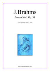 Cover icon of Sonata No.1 in E minor Op.38 sheet music for viola and piano by Johannes Brahms, classical score, intermediate/advanced skill level
