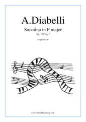 Cover icon of Sonatina in F major Op.151 No.3 sheet music for piano solo by Antonio Diabelli, classical score, easy skill level