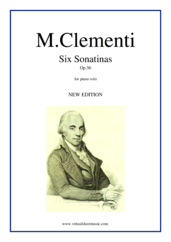 Cover icon of Six Sonatinas Op.36 sheet music for piano solo by Muzio Clementi, classical score, easy skill level