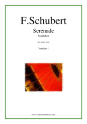 "Cover icon of Serenade ""Standchen"" (version 1) sheet music for guitar solo by Franz Schubert, classical score, intermediate/advanced skill level"