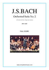 Cover icon of Orchestral Suite No.2 BWV 1067 (f.score) sheet music for orchestra by Johann Sebastian Bach, classical score, intermediate skill level