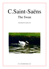Cover icon of The Swan sheet music for guitar solo by Camille Saint-Saens, classical score, intermediate skill level