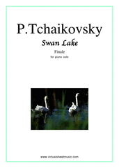 Cover icon of Swan Lake (Finale) sheet music for piano solo by Pyotr Ilyich Tchaikovsky, classical score, easy/intermediate skill level