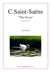 Cover icon of The Swan (NEW EDITION) sheet music for viola and piano by Camille Saint-Saens, classical score, easy skill level