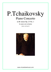 Concerto in Bb minor Op.23 No.1 for piano and orchestra - orchestra concerto sheet music