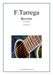 Cover icon of Reverie De Schumann sheet music for guitar solo by Francisco Tarrega, classical score, intermediate/advanced skill level