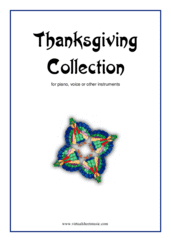 Cover icon of Thanksgiving Collection sheet music for piano, voice or other instruments, easy skill level