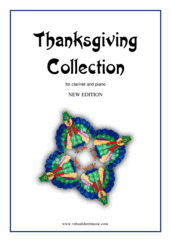 Cover icon of Thanksgiving Collection (NEW EDITION) sheet music for clarinet and piano, easy skill level