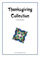 Cover icon of Thanksgiving Collection sheet music for cello and piano, easy skill level