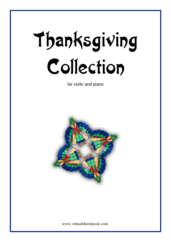 Cover icon of Thanksgiving Collection sheet music for violin and piano, easy skill level