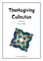 Cover icon of Thanksgiving Collection (COMPLETE) sheet music for string trio, easy skill level