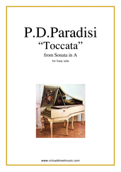 Toccata for harp solo - classical harp sheet music