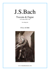 Cover icon of Toccata and Fugue in D minor BWV 565 (COMPLETE) sheet music for string trio by Johann Sebastian Bach, classical score, intermediate/advanced skill level