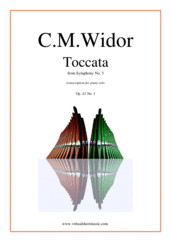 Cover icon of Toccata from Symphony No.5 sheet music for piano solo by Charles Marie Widor, classical score, intermediate/advanced skill level
