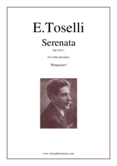 Cover icon of Serenata Op.6 No.1 sheet music for violin and piano by Enrico Toselli, classical score, easy/intermediate skill level
