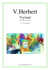 Toyland for voice and piano - intermediate victor herbert sheet music