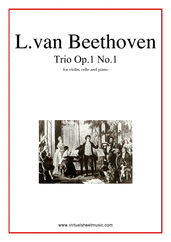 Cover icon of Trio Op.1 No.1 sheet music for violin, cello and piano by Ludwig van Beethoven, classical score, intermediate/advanced skill level