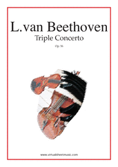 Cover icon of Triple Concerto Op.56 sheet music for violin, cello, piano and orchestra by Ludwig van Beethoven, classical score, advanced skill level