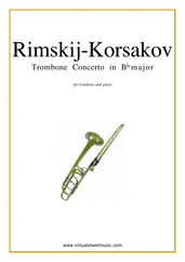 Concerto in Bb major for trombone and piano - trombone concerto sheet music