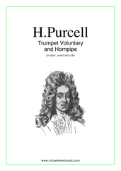 Trumpet Voluntary and Hornpipe for flute, violin and cello - jeremiah clarke flute sheet music