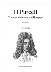 Cover icon of Trumpet Voluntary and Hornpipe (COMPLETE) sheet music for string trio by Henry Purcell, classical wedding score, intermediate skill level