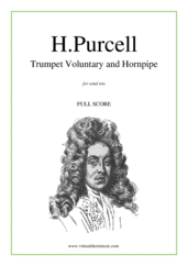 Trumpet Voluntary and Hornpipe (COMPLETE) for wind trio - jeremiah clarke flute sheet music
