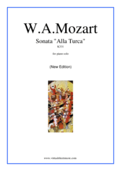 "Cover icon of Sonata ""Alla Turca"" K331 (New Edition) sheet music for piano solo by Wolfgang Amadeus Mozart, classical score, intermediate skill level"