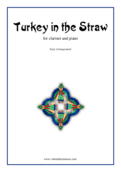 Cover icon of Turkey in the Straw sheet music for clarinet and piano, easy skill level