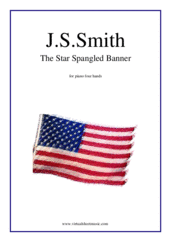 The Star Spangled Banner - USA Anthem for piano four hands - easy piano four hands sheet music
