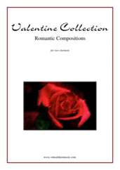 Cover icon of Valentine Sheet Music for two clarinets, classical score, intermediate/advanced duet