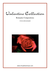 Cover icon of Valentine Sheet Music for two violins and piano, classical score, intermediate/advanced skill level