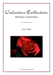 Cover icon of Valentine Sheet Music (f.score) for saxophone quartet, classical score, intermediate/advanced skill level
