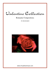 Cover icon of Valentine Sheet Music for viola and piano, classical score, intermediate/advanced skill level