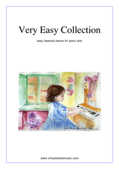 Very Easy Collection for Beginners, part I for piano solo - johann sebastian bach sonata sheet music