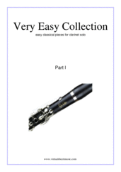 Cover icon of Very Easy Collection, part I sheet music for clarinet solo, classical score, beginner skill level