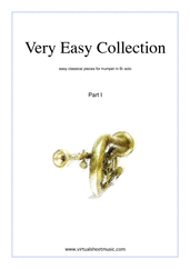 Cover icon of Very Easy Collection, part I sheet music for trumpet solo, classical score, beginner skill level