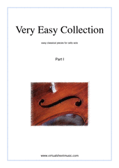 Very Easy Collection, part I for cello solo - beginner cello sheet music