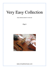 Cover icon of Very Easy Collection, part I sheet music for viola solo, classical score, beginner skill level