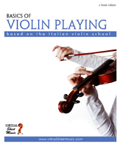 Cover icon of Basics of Violin Playing sheet music for violin by Fabrizio Ferrari, classical score, easy skill level