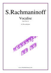 Cover icon of Vocalise Op.34 No.14 sheet music for flute and piano by Serjeij Rachmaninoff, classical score, intermediate skill level